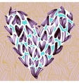 Watercolor small hearts on a pastel pink vector image