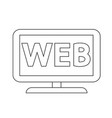 web tv icon vector image