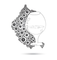 Wine Glass On The Doodle Circular Pattern Isolated vector image vector image