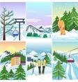 Winter holidays landscape vector image vector image