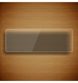 Wood background with glass frame vector image