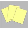 yellow paper vector image vector image