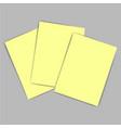 yellow paper vector image