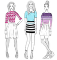 Young fashion girls vector image vector image