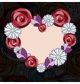 Abstract floral background heart vector image