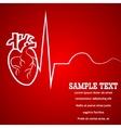 Heart pulse banner vector image
