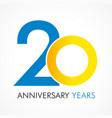 20 circle anniversary logo vector image vector image