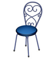 A blue chair furniture vector image vector image