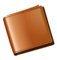 A topview of a brown wallet vector image vector image