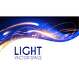 abstract motion light effect futuristic wave vector image vector image