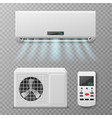 air conditioning realistic conditioner hot or vector image