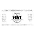 alphabet calligraphic font unique custom vector image vector image