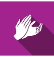Applause clapping icon vector image
