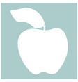 apple the white color icon vector image