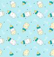 baby bottle seamless pattern
