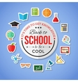 Back to school and education flat icons with vector image vector image