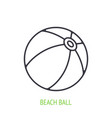 beach ball outline icon inflatable ball for vector image vector image