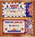Birthday card with Circus Ticket vector image vector image