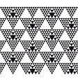 black and white modern motif vector image vector image