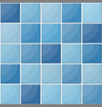 blue ceramic tiles seamless pattern vector image