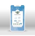 blue dentist profile ui ux gui screen for mobile vector image vector image