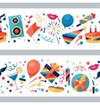 Celebration seamless pattern with party icons and vector image