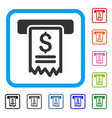 cheque payment framed icon vector image vector image
