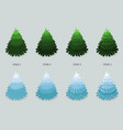 christmas tree cartoon design vector image
