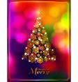 Christmas tree made from golden snowflakes on vector image vector image