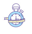 chronometer with measuring to practice exercise vector image
