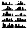 city skylines vector image vector image