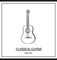 classical guitar icon vector image vector image
