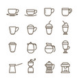 coffee icon set collection linear vector image