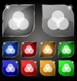 Color scheme icon sign Set of ten colorful buttons vector image