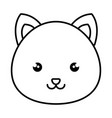 cute and tender hamster kawaii style vector image vector image