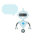 cute happy smiling funny robot chat bot vector image vector image