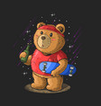 cute little bear drink beer and play skateboard il