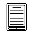 ebook reader icon vector image