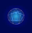 enneagram yoga gold icon design sacred geometry vector image vector image