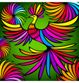 Exotic colorful bird vector image