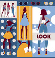 fashion collage set of vector image