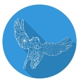 Flat icon of pegasus vector image