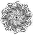 floral mandala zentangl vector image