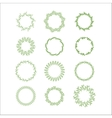 Floral wreath decoration vector image vector image