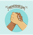 friendship day concept with shaking hands vector image