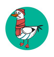 funny cartoon seagull sick vector image vector image