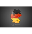 Germany logo Puzzle Germany logo design Creative vector image vector image