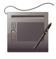 graphics tablet top view vector image vector image