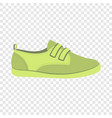 green shoe icon flat style vector image