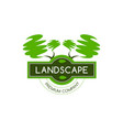 green trees icon for landscape designing vector image vector image